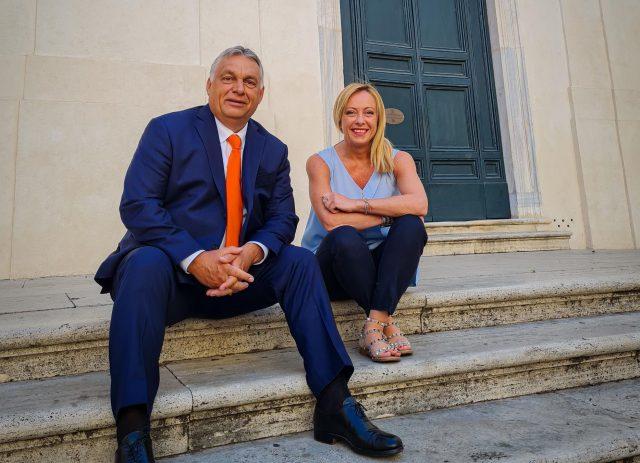 PM Orbán在羅馬會見Fratelli d'Italia領導人